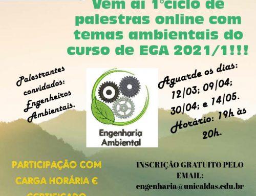 1º Ciclo de Palestras Online da Engenharia Ambiental